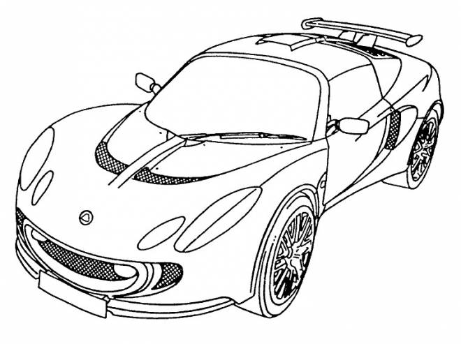 Free coloring and drawings Color lamborghini Coloring page