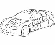 Coloring pages Drawing of Nascar racing car