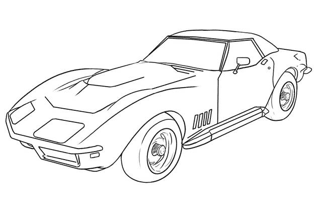 Free coloring and drawings Ferrari sports car to print Coloring page