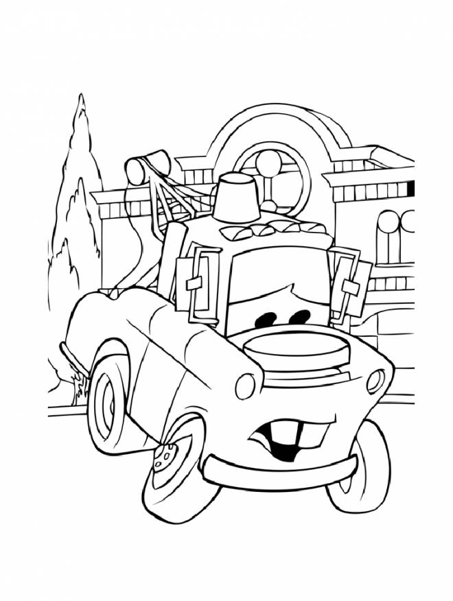 Free coloring and drawings Martin Disney pickup truck Coloring page