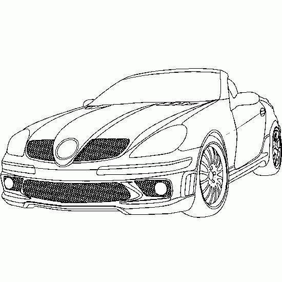 Free coloring and drawings Mercedes SLS cabriolet Coloring page