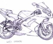 Coloring pages Motorcycle Tuning