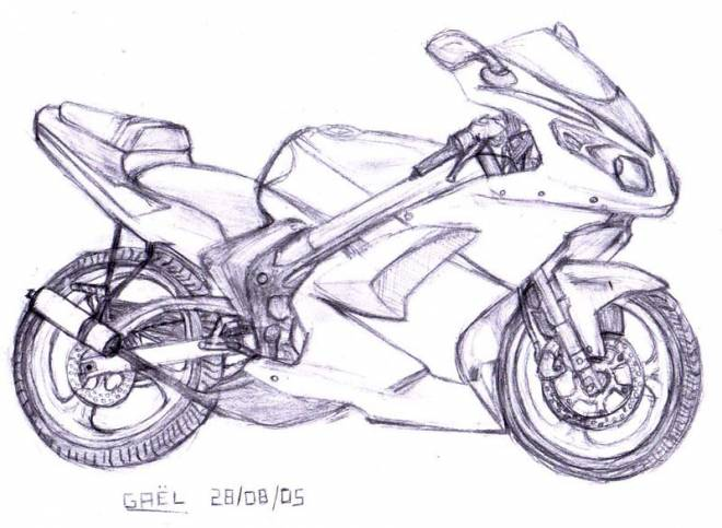 Free coloring and drawings Motorcycle Tuning Coloring page