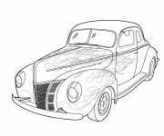 Coloring pages Old Tuning Car