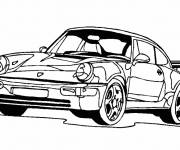Free coloring and drawings Porsche coupe car Coloring page
