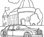 Coloring pages Presidential car