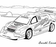 Free coloring and drawings Rally car in color Coloring page