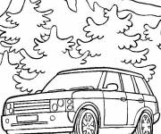 Coloring pages Range Rover car