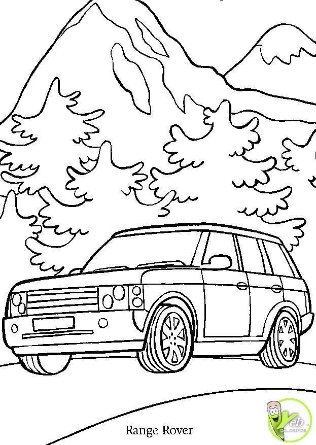 Free coloring and drawings Range Rover car Coloring page