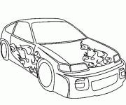 Coloring pages Tuning car coloring