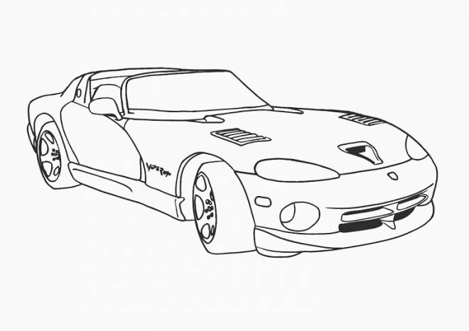 Free coloring and drawings Viper Luxury car Coloring page