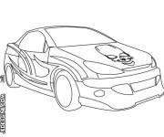 Coloring pages Well decorated car