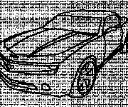 Coloring pages Camaro drawn by pencil