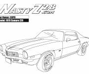 Coloring pages Camaro model Z28 1970