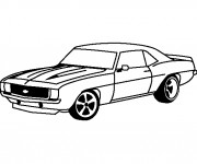 Coloring pages Camaro ZL1 1969
