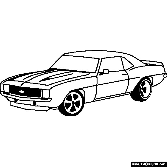 Free coloring and drawings Camaro ZL1 1969 Coloring page