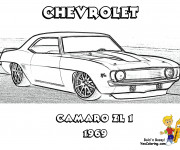 Coloring pages Camaro ZL1