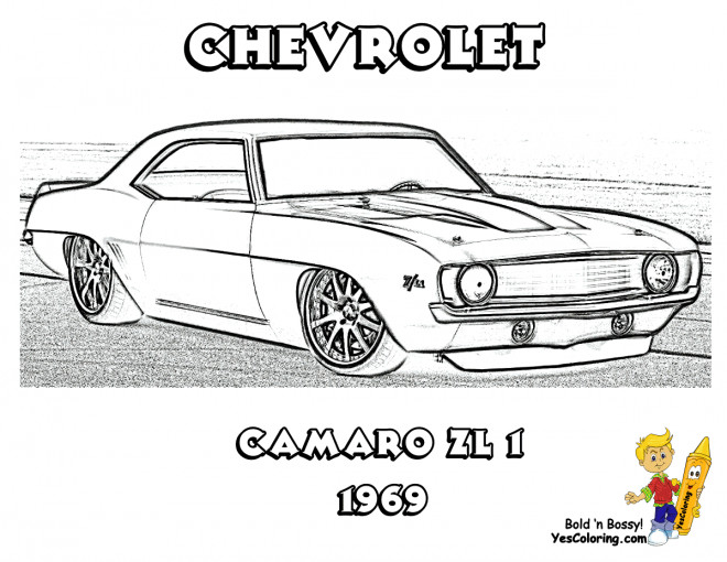 Free coloring and drawings Camaro ZL1 Coloring page