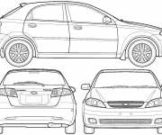 Coloring pages Cars and model Chevrolet