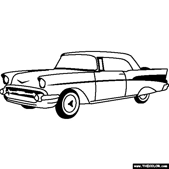 Free coloring and drawings Chevrolet 35 Coloring page