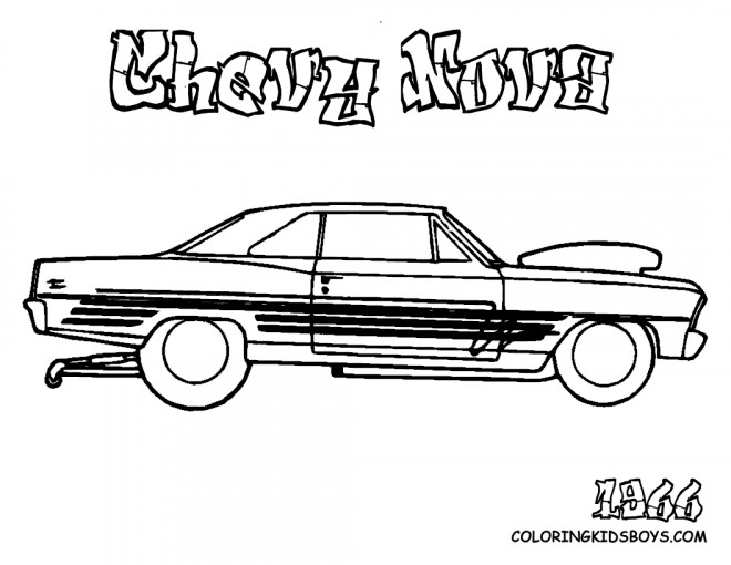 Free coloring and drawings Chevrolet 7 Coloring page