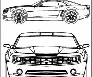 Free coloring and drawings Chevrolet Camaro extraordinary model Coloring page