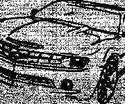 Coloring pages Chevrolet Camaro on computer