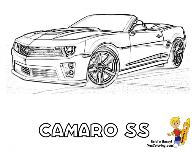 Free coloring and drawings Chevrolet Camaro SS Coloring page