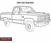 Coloring pages Chevrolet cars model