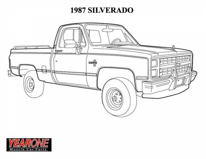 Free coloring and drawings Chevrolet cars model Coloring page