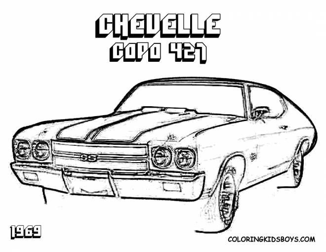Free coloring and drawings Chevrolet Cup 427 Coloring page