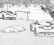 Coloring pages Chevrolet driving