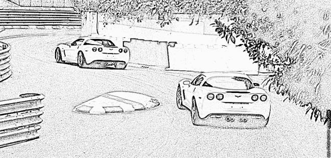 Free coloring and drawings Chevrolet driving Coloring page