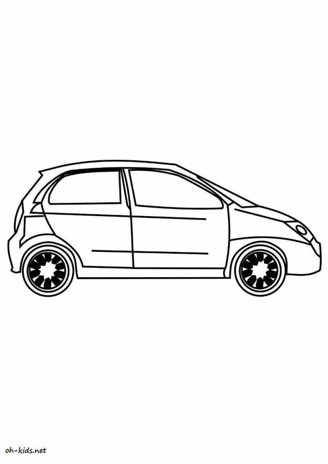 Free coloring and drawings Chevrolet for children Coloring page
