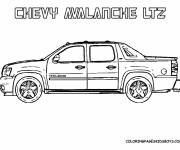 Coloring pages Chevrolet luxury