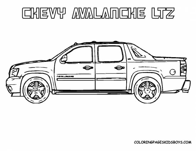 Free coloring and drawings Chevrolet luxury Coloring page