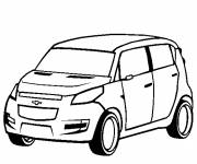 Coloring pages Chevrolet model