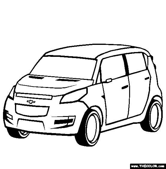 Free coloring and drawings Chevrolet model Coloring page