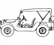 Coloring pages Chevrolet on the road