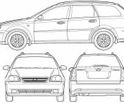 Coloring pages Chevrolet racing