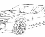 Coloring pages Chevrolet racing cars