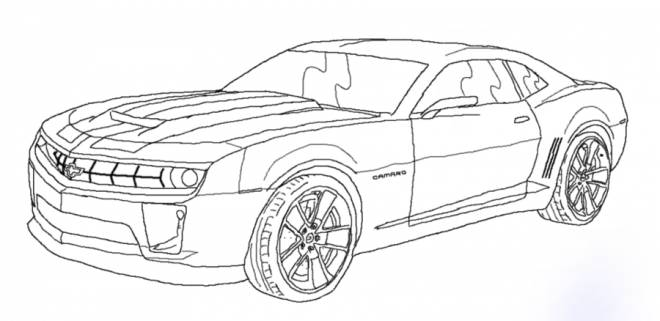 Free coloring and drawings Chevrolet racing cars Coloring page