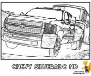 Coloring pages Chevrolet sport