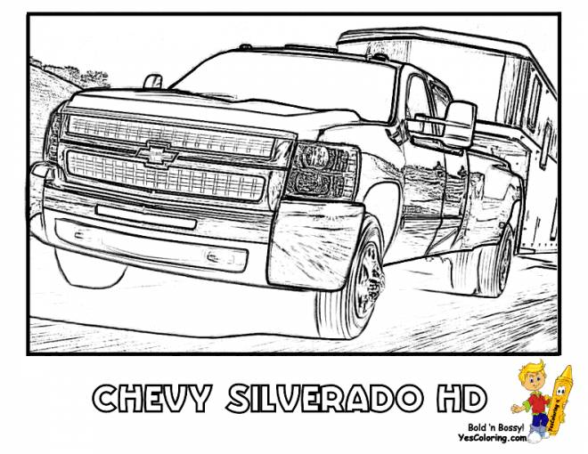Free coloring and drawings Chevrolet sport Coloring page