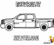 Coloring pages Chevrolet sport car