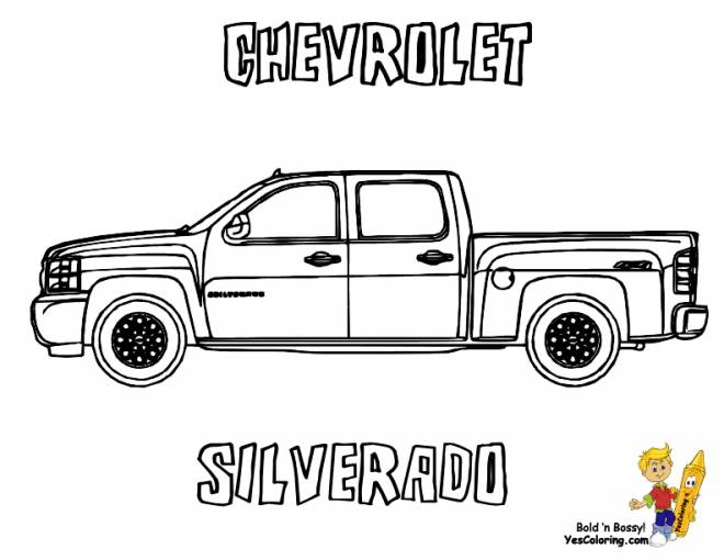 Free coloring and drawings Chevrolet sport car Coloring page