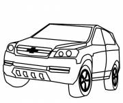 Coloring pages Chevrolet to decorate