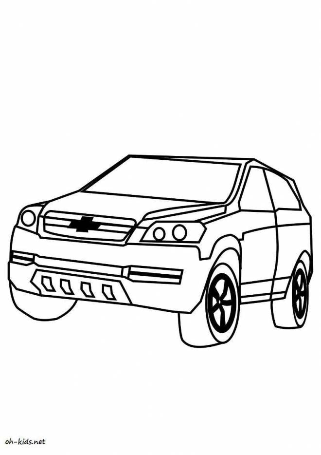 Free coloring and drawings Chevrolet to decorate Coloring page