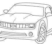 Coloring pages Chevrolet vehicule