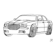 Coloring pages Auto Chrysler 300c